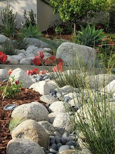 Dry Creek bed incorporated into landscape