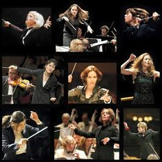 Love this brilliant image celebrating women conductors! It beautifully illustrates the focus, determination, and artistry that it takes for a conductor to direct a stellar performance, but rarely do you see such a montage featuring women.