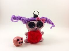 Mini keychain, Chubbee Doll, Plush Stuffed Creature, Handmade
