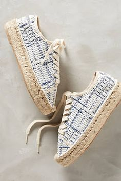 Shop Espadrilles at Anthropologie today, featuring the season's newest arrivals as well as tried-and-true favorites. Shoe Boots, Shoes Sandals, Shoes Sneakers, Heels, Buy Shoes, Me Too Shoes, Espadrille Sneakers, Shoes 2017, Kinds Of Shoes