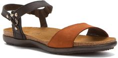 Naot Women's Sabrina Flat Sandal, Jet Blk/Hawaiian Brown Nubuck,Size - 35: Amazon.ca: Clothing & Accessories