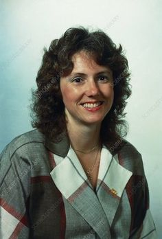 Teacher Christa McAuliffe, one of the crew members on the shuttle Challenger mission which exploded seventy three seconds after lift off on the January All seven crew members were killed. Space Shuttle Challenger Crew, Space Disasters, Christa Mcauliffe, Library Website, Lift Off, Science Photos, Model Release, New Hampshire