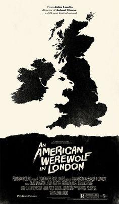 An American Werewolf In London © Olly Moss