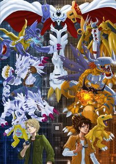 Digimon Fan art Agu Gabu digivolution by piter235.deviantart.com on @DeviantArt