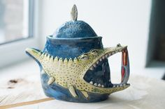 Ceramic Teapot - Cool Teapots - Clay Teapot - Unique Teapots - Wedding Gift - Ceramic art - Cute Teapots