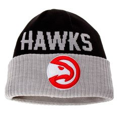 Atlanta Hawks New Era Classic Cover Cuffed Knit Hat Navy Gray 916f53aa59a6