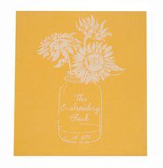 Logo Shirt Sunflower-embroidery chick, tank, short sleeve, comfort colors, custom, monogram, sunflower