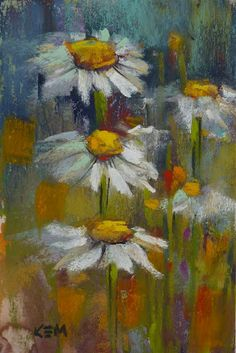 Painting my World: Demo Monday ...Painting Daisies in Pastel