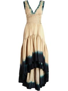 love this dress so much!  i get the dip dying and maybe the bias cut, but the gathering???  not sure i could do this