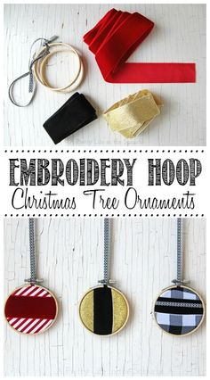 Embroidery Hoop Ornaments.