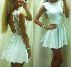 Love this white dress.