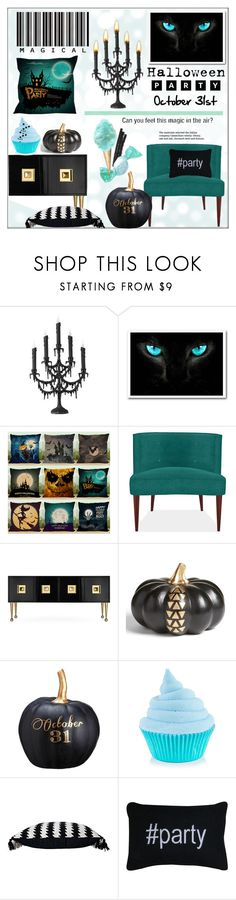 """""""Halloween Party Decor"""" by pat912 ❤ liked on Polyvore featuring interior, interiors, interior design, home, home decor, interior decorating, Jonathan Adler, Levtex, Allstate Floral and Park B. Smith"""