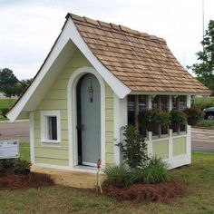 Childrens Playhouse Plans 499336677413415036 - Whether you are looking for a playhouse or potting shed, Flutter-By Cottage will bring a touch of whimsy to your garden. Source by nicolemaliv Kids Playhouse Plans, Outside Playhouse, Backyard Playhouse, Build A Playhouse, Backyard Retreat, Childrens Playhouse, Backyard Sheds, Garden Sheds, Garden Tools