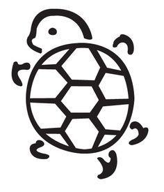 cute turtle outline tattoos