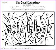 Parables: The Good Samaritan take home sheet printable