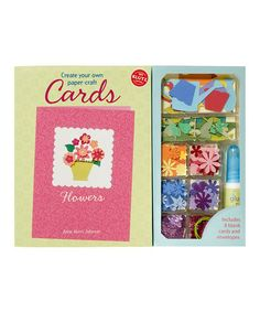Take a look at this Flowers Paper-Craft Cards Hardcover Kit by Klutz on #zulily today! $12 !!
