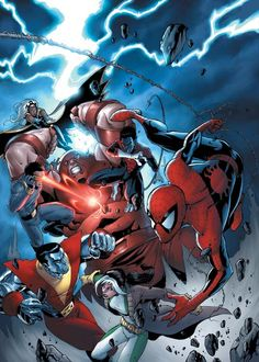 Spider-Man & The X-Men vs. Juggernaut by Andie Tong