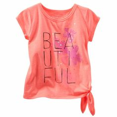 She paints a picture of beauty in this chic artist-inspired side tie tee from OshKosh B'gosh. Pair with coordinating pants or a skirt and she's ready to rock out at a concert.