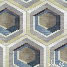 Check out this section of 3D honeycomb geo's in our latest #Rug #Design portfolio!