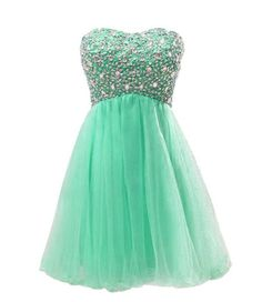 Cute short ball gown 2015 with crystal beaded bodice and sweetheart strapless neckline