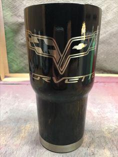 Corvette Custom Powder Coated Cups! No Stickers No Vinyl! 100% Powder Coat! Need a Cup, Hit me Up! The Cup Plug!