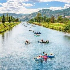 Take me to the river, near Penticton, BC, lazy river . 4 hr from vancouver Oh The Places You'll Go, Cool Places To Visit, Places To Travel, Travel Destinations, Camping Places, Camping Cabins, Camping List, Travel Things, The River