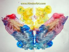 Paint Blots - a great idea for rotations!