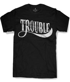 06db5f86 TROUBLE Mens t shirt 8 color options sizes sm by skipnwhistle, $17.00  Rocker Look,