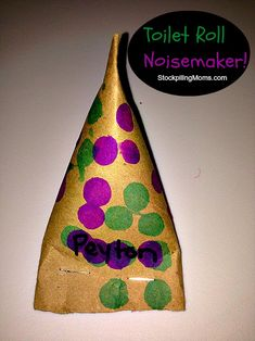 DIY Toilet Roll Noisemaker you can make with kids as a craft!