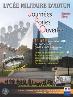Journées portes ouvertes au lycée militaire d'Autun. Du 14 au 15 septembre 2013 à Autun.  11H00