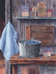"""""""Blueberries and Pint Boxes"""" by Maureen McCarthy"""