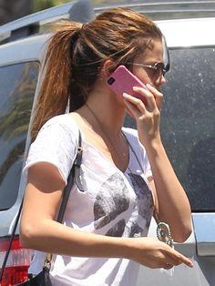 Selena Gomez super-long ponytail hair-and-beauty