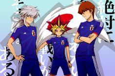 Yu-Gi-Oh! Duel Monsters --- Holy sweet baby jesus! BAKURA YAMI AND SETO *nosebleeds*