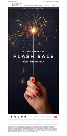 LOFT - FLASH SALE. Who's ready to celebrate?
