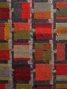 Tapestry on gauze; silk & linen