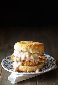 chicken fried steak biscuits with chanterelle gravy recipe | use real butter