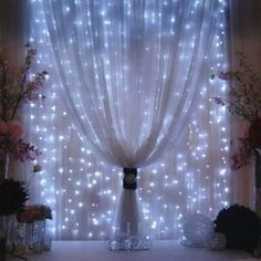 Outop®300LED 3m*3m/9.8ft*9.8ft Window Curtains Light Fairy String for Outdoor Indoor Home Garden Christmas Party Wedding