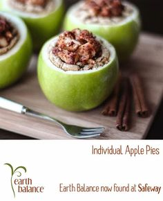 Individual Apple Pies  vegan, plantbased, earth balance, made just right