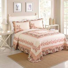Better Homes and Gardens Shyla Bedspread, Peach - Walmart.com