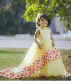 c58016ec05cec Pretty party wear dress Frocks For Girls, Little Girl Dresses, Baby Dresses,  Kids