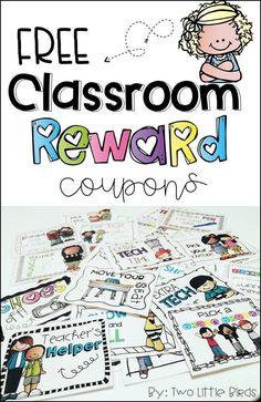 Reward Coupons FREE set of 10 classroom reward coupons!FREE set of 10 classroom reward coupons! Classroom Reward Coupons, Classroom Economy, Classroom Behavior Management, Classroom Organization, Classroom Incentives, 3rd Grade Classroom, Kindergarten Classroom, School Classroom, Future Classroom