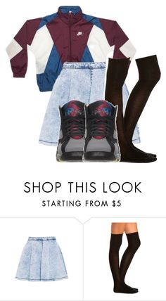 """""""Nike Wid Jordan"""" by princess-sinia ❤ liked on Polyvore featuring Charlotte Russe and Retrò"""