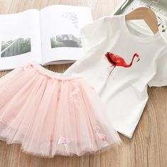 Every little girl's dream is to become a princess. Let that dream come true with this cute little dress for girls. White Flamingo, Flamingo Dress, Pink Flamingos, Little Dresses, Girls Dresses, Snow Angels, Girls Dream, Fall Outfits, White Dress