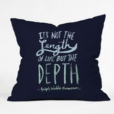 Leah Flores Depth Throw Pillow | DENY Designs Home Accessories