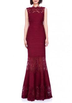 Tadashi Shoji Sleeveless Pintuck Jersey Gown 6L1178L