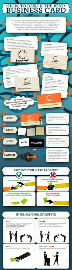 How to Design the Best Business Card infographic.