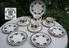 Irish Earthenware 'Celtic' Ennis, 4 Cups/Saucers/Tea Plates + Serving Plate All in excellent condition. Side Plates, Serving Plates, Earthenware, Cup And Saucer, Celtic, Irish, Decorative Plates, Ceramics, Tea
