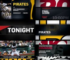 Root Sports: Menu Graphics