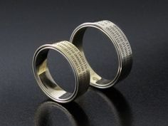 #Rings by #Bielak  certfied white #gold / yellow gold  #binarycode  Hand Made in #Poland  #wedding rings