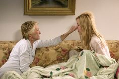 """Cloris Leachman and Tea Leoni in Spanglish """"So tell me again why I can't call him on his cell phone"""" """"Besides that he turned it off? """"Yeah."""" """"Forty messages starts to look needy."""""""